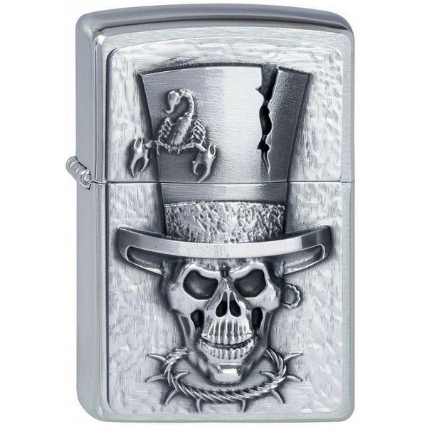 zippo-97588-skull-top-hat